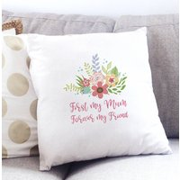 Forever My Friend Mum Cushion Cover, Teal/Pink