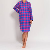 Women's Nightshirt In Pink Tartan Flannel