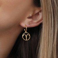 Horoscope Charm Hoop Earrings