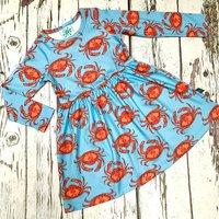 Organic Crabs Dress, Baby Dress, Girls Dress