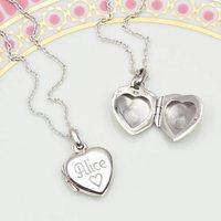 Petite Personalised Sterling Silver Girls Locket, Silver