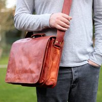 Special Leather Messenger Bag