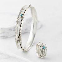 Rajput Serenity Gemstone Ring And Bangle Set