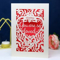You Are So Loved Papercut Card