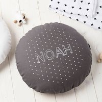 Boys Grey Round Triangles Cushion