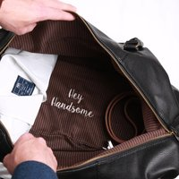 Embroidered Secret Message Weekend Holdall