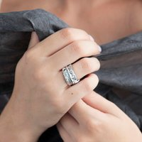 Silver Feather Ring, Silver