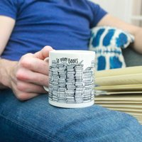 'So Many Books, So Little Time' Mug For Book Lovers