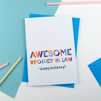 Awesome Brother In Law All Purpose Personalised Card