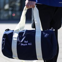 Personalised Gym Bag, Navy/White/Red