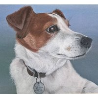 Personalised Pet Portrait, White/Black
