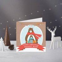 Mummy Bear Christmas Card