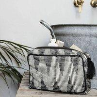 Makeup Bag In Grey/White