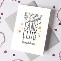 Personalised Fang Club Halloween Card