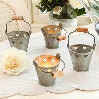 Six Wedding Decoration Heart Tealight Holders, Cream