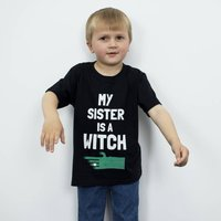 My Sister Is A Witch Children's Halloween T Shirt