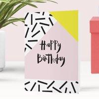 Happy Birthday Memphis Greeting Card