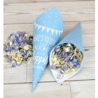 Bunting Personalised Wedding Cones With Confetti