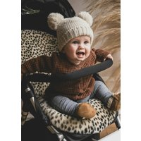 Baa Baby Pram Style Sheepskin Pram Liner Leopard Print