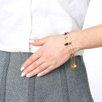 18ct Yellow Vermeil Gold Briolette Amethyst Bracelet, Gold
