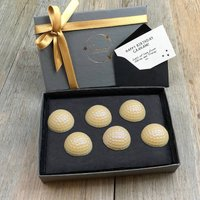 Golf Balls Personalised White Chocolate Letterbox