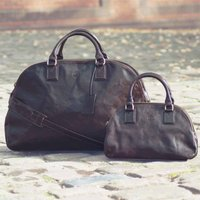 Large Ladies Leather Luggage Bag.The Liliana L, Chestnut/Tan/Dark Chocolate