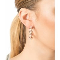 Pearl Laurel Hoop Earrings
