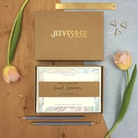 Marbled Correspondence Cards