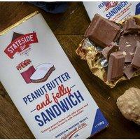 Peanut Butter And Jelly Sandwich Milk Chocolate Bar