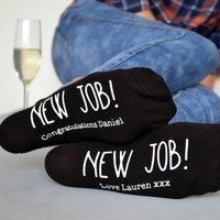 New Job Personalised Socks