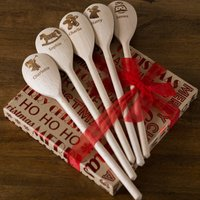 Personalised Christmas Wooden Spoons