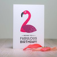Flamingo Birthday Card