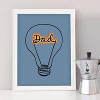 Fathers Day Lightbulb 'Dad' Art Print