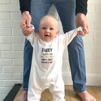 Happy First Father's Day Baby Grow