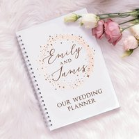 Personalised Rose Gold Sparkle Wedding Planner