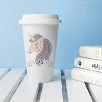 Personalised Unicorn Ceramic Travel Mug