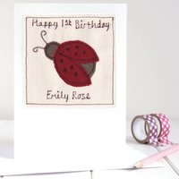 Personalised Ladybird Card