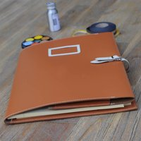 Leather Business Folder, Ivory