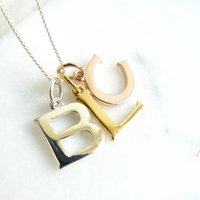 Personalised Mixed Metal Initials Necklace