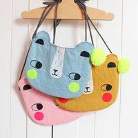 Childrens Linen Bear Bag