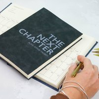 2020 Diary. Leather Diary. Personalised Next Chapter
