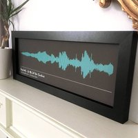 Personalised Framed Song Sound Wave Print