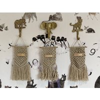 Personalised Childrens Mini Macrame Wall Hanging