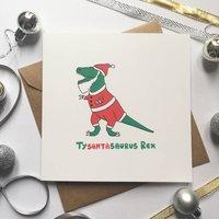 Funny Dinosaur Christmas Card Tysantasaurus Rex