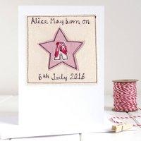 Personalised Girls Initial Star Card