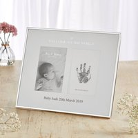 'Welcome To The World' Photo And Ink Print Frame