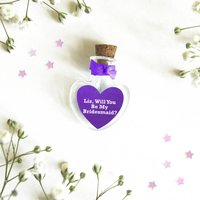 'Will You Be My Bridesmaid' Personalised Heart Token