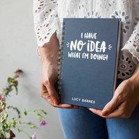 Personalised No Idea Student Foil Notebook