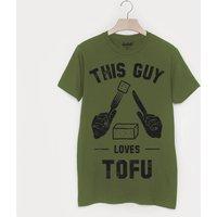 This Guy Loves Tofu Men's Vegan Slogan T Shirt