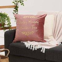 Personalised Floral Family Velvet Cushion